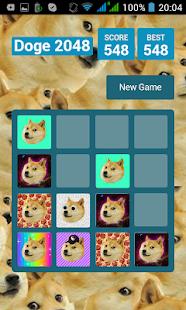 Doge 2048 screenshot