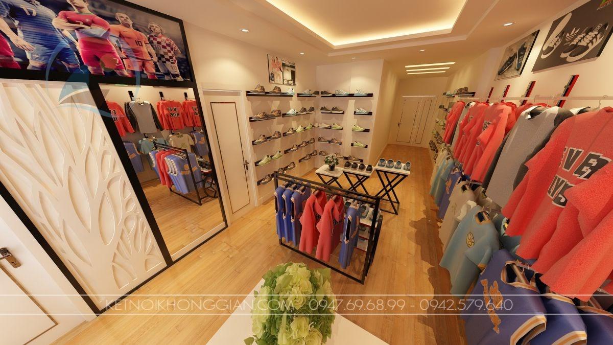 Thiết kế cửa hàng quần áo thể thao 2