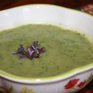 Dairy Free Garlic Scape Soup.