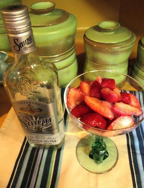 """Strawberries With Tequila & Black Pepper """"YUM! These strawberries were really delicious...."""