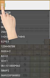 Calculator (HEX,BIN,DEC,OCT) - náhled
