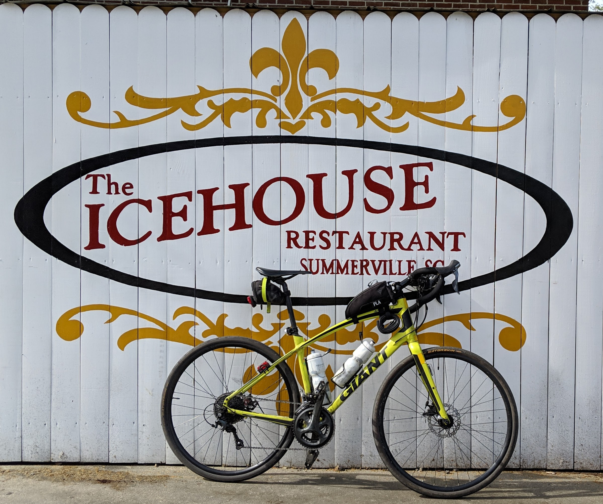 bike in front of Ice House sign