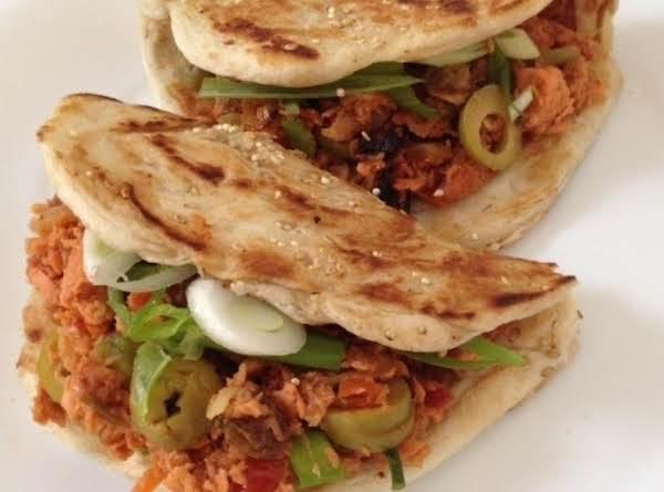 Turkey Picadillo Shaobing Sandwiches