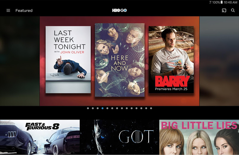 Screenshot 11 for HBO GO's Android app'