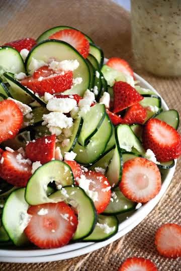 Cucumber & Strawberry Poppyseed Salad