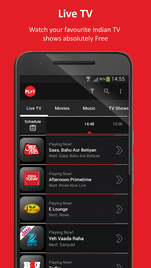 Vodafone Play TV Movies Sports- screenshot