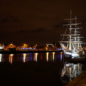 The Ship by Elena Lashneva - City,  Street & Park  Night