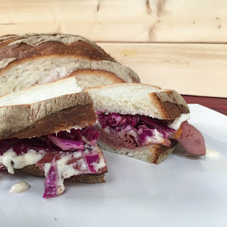 Tangy Roast Beef Melt with Slaw
