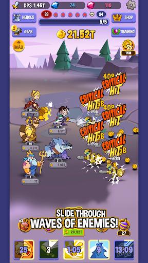 Code Triche Idle Quest Heroes APK MOD (Astuce) screenshots 3