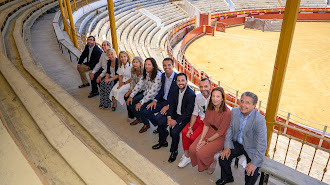 Presentación del programa, ayer en la Plaza de Toros de Almería.