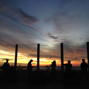 Sunset at Bali airport  by Kus Wantoro - Instagram & Mobile iPhone