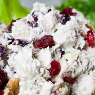 Amazing Chicken Salad With Cranberries And Walnuts.