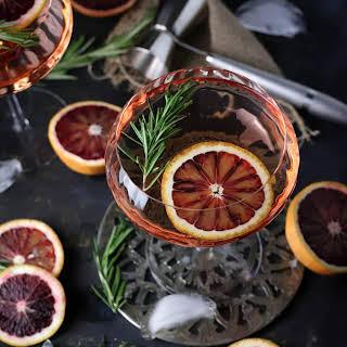 Brunch-Style Blood Orange & Rosemary Cocktails.