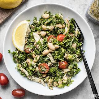 Make Ahead Kale White Bean and Pesto Salad Recipe