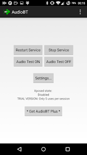 AudioBT: BT audio GPS/SMS/Text- screenshot thumbnail