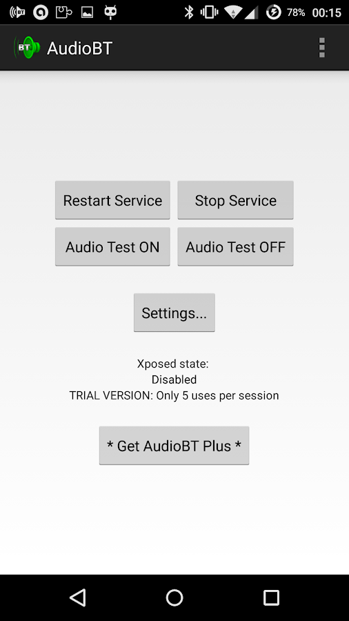 AudioBT: BT audio GPS/SMS/Text- screenshot