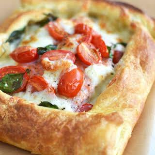 Salmon Tomato Puff Pastry Pizza.