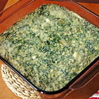 Creamed Spinach and Artichoke Casserole.