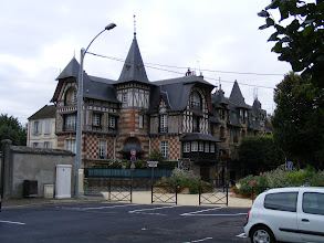 Photo: Never found any details on this large brick house on the Avenue Emile Zola, but its unusual shape for some reason reminded me of the Winchester Mystery House back in the US in San Jose.