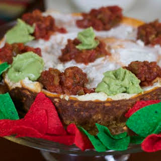Savory Mexican Cheesecake Appetizer.