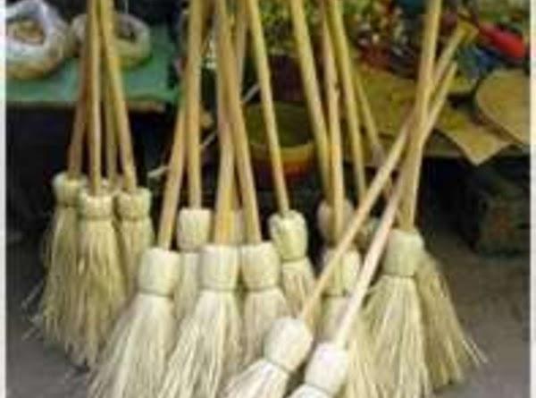 "The original household broom was a bunch of the actual broom plant,""Planta genista"", tied..."