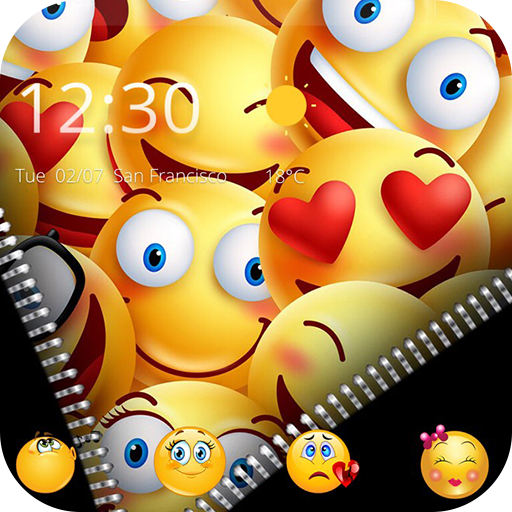 Zipper Smiley Emoji Theme