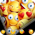 Zipper Smiley Emoji Theme APK