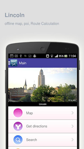 Lincoln Map offline