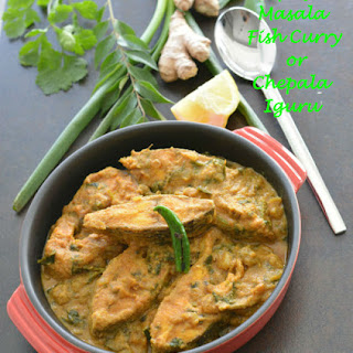 Spicy Masala fish curry or Chepala Iguru