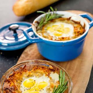 Quail Eggs in a Basket.