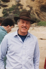 Photo: Ken Hanson at SPIE Medical Imaging beach party, Newport Beach, CA; 1994  KMH