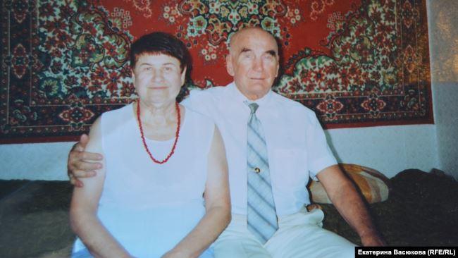 Георгий Пермяков с женой. Хабаровск. 1990-е гг.