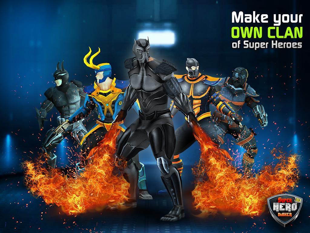 Super Hero Maker 3D- screenshot