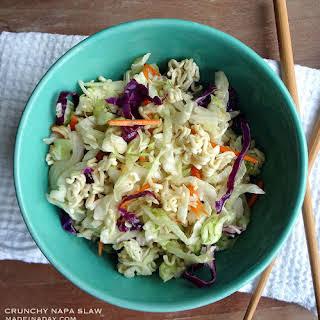 Crunchy Napa Cabbage Slaw.