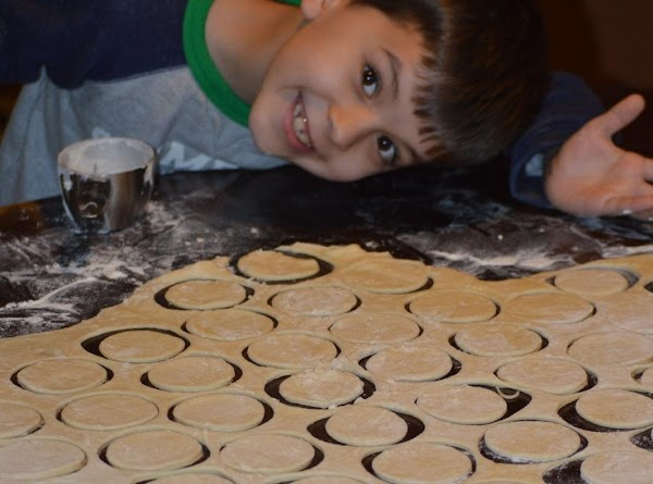 Little Chef AKA Bobby helping mommy cut out kolaches