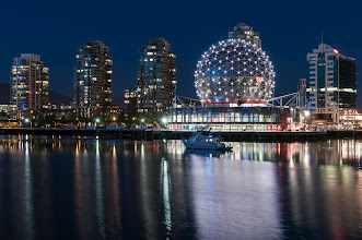 Photo: Science World at night