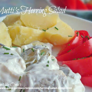Mutti's German Herring Salad.