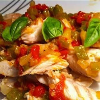 Baked Snapper with Chilies, Ginger and Basil.