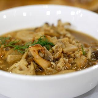 Warm up with Martha Stewart's farro-mushroom soup