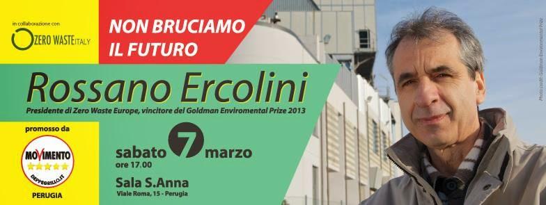 Rossano Ercolini - Non Bruciamo il Futuro - Perugia - Sala Sant'Anna - 7 marzo 2015