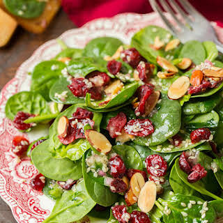 Cranberry Almond Spinach Salad.