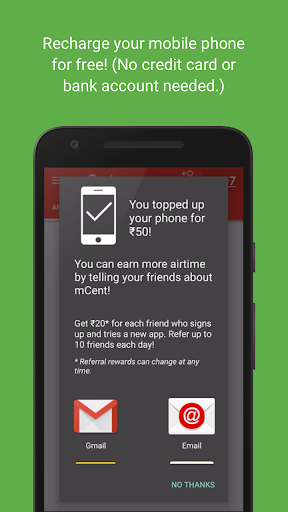 mCent - Free Mobile Recharge screenshot 3