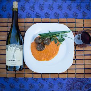 Lamb Meatballs with Roasted Pepper Vinaigrette
