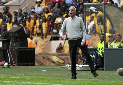Kaizer Chiefs coach Ernst Middendorp during the Absa Premiership match againt Mamelodi Sundown. / Veli Nhlapo