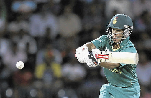 FIRST STRIKE: JP Duminy is out of action after injuring his tendon.