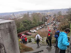 Photo: waar we langs de trappen weer naar beneden gaan