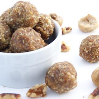 2 Ingredient, No Bake Fig and Walnut Energy Bites