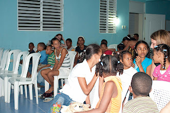 Photo: The congregation meets upstairs in an unused orphanage facility, usually at night.