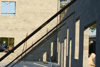 Photo: Wall Braces on Block Work for New Building Atlanta ,Ga