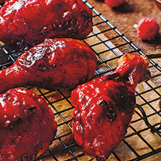 Citrus Chicken with Raspberry Barbecue Sauce.